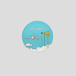 Fly Safe Mini Button