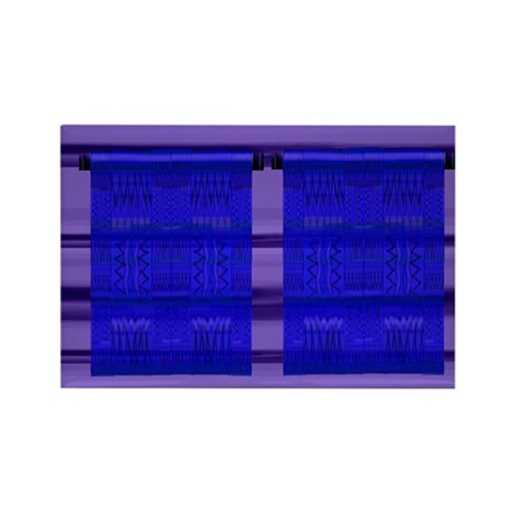 Wall ART Navy/Purple Rectangle Magnet (10 pack)