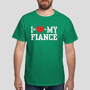 I Love My Fiance Dark T-Shirt