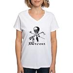 Detroit Pirate Women's V-Neck T-Shirt