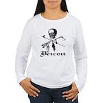 Detroit Pirate Women's Long Sleeve T-Shirt