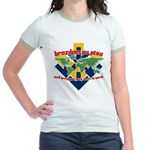 BJJ Tshirt - Back Down to Earth Jr. Ringer T-Shirt