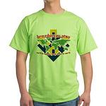 BJJ Tshirt - Back Down to Earth Green T-Shirt