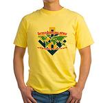 BJJ Tshirt - Back Down to Earth Yellow T-Shirt