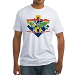BJJ Tshirt - Back Down to Earth Fitted T-Shirt