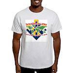BJJ Tshirt - Back Down to Earth Light T-Shirt
