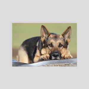 German Shepherd Dog 4' X 6' Rug