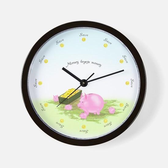Saving Round the Clock Scenic Wall Clock