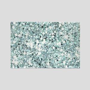 Silver Blue Glitter Magnets