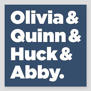 "Olivia Quinn Huck Abby Square Car Magnet 3"" x 3"""