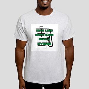 Hybrid Symbol and Slogan Ash Grey T-Shirt