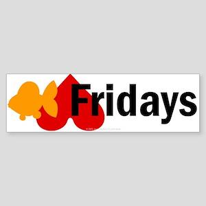 Goldfish hate Fridays Bumper Sticker
