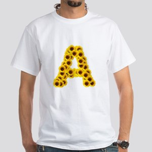 Sunflower Letter A T-Shirt
