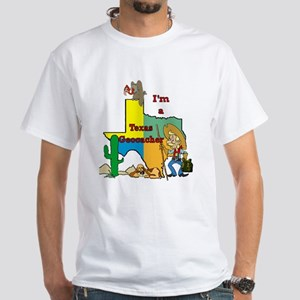 Texas Geocaching White T-Shirt