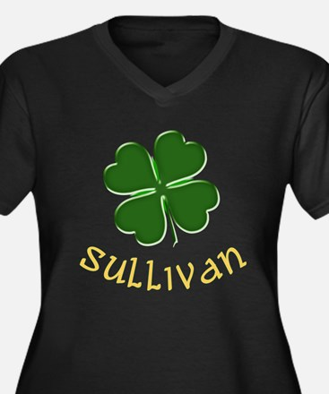 Irish Sullivan Women's Plus Size V-Neck Dark T-Shi