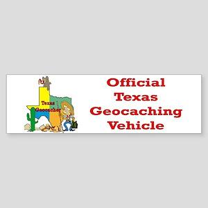 Texas Geocache Bumper Sticker