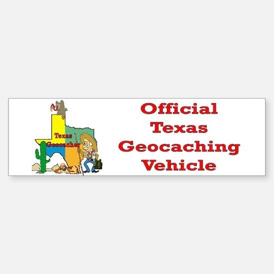Texas Geocache Bumper Bumper Bumper Sticker