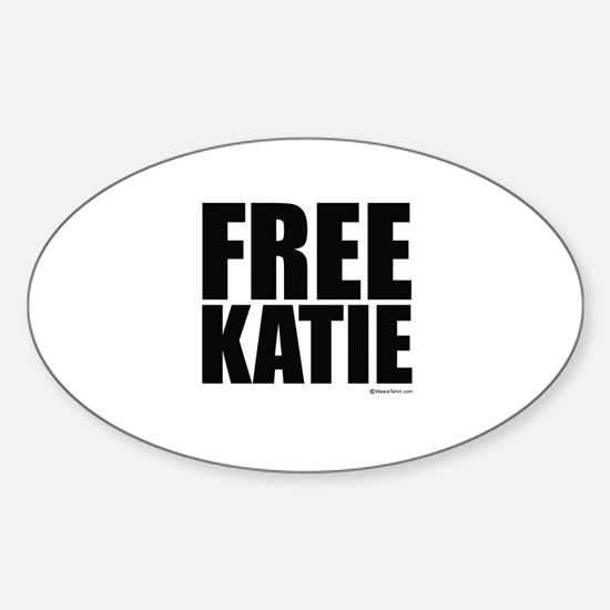 FREE KATIE Oval Decal