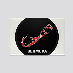 Flag Map of Bermuda Rectangle Magnet
