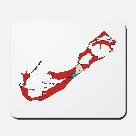 Bermuda Flag Map Mousepad