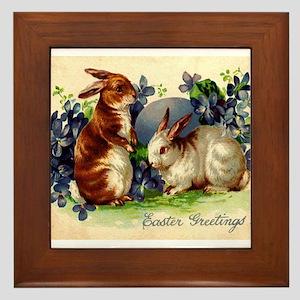 """Easter Bunnies"" Framed Tile"
