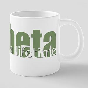 Theta 20 oz Ceramic Mega Mug