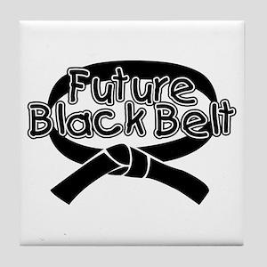 Future Black Belt 2 Tile Coaster
