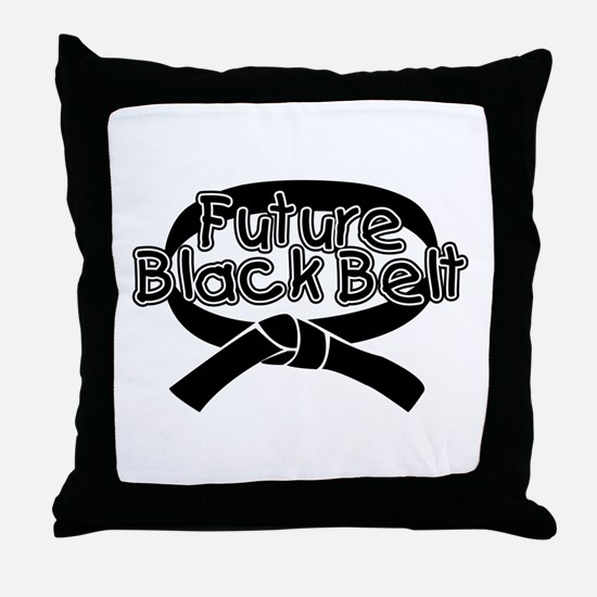 Future Black Belt 2 Throw Pillow