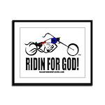Ridin For God! Framed Panel Print