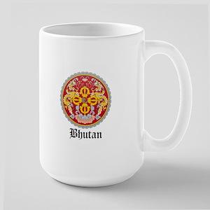 Bhutanese Coat of Arms Seal Large Mug