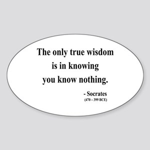 Socrates 3 Oval Sticker