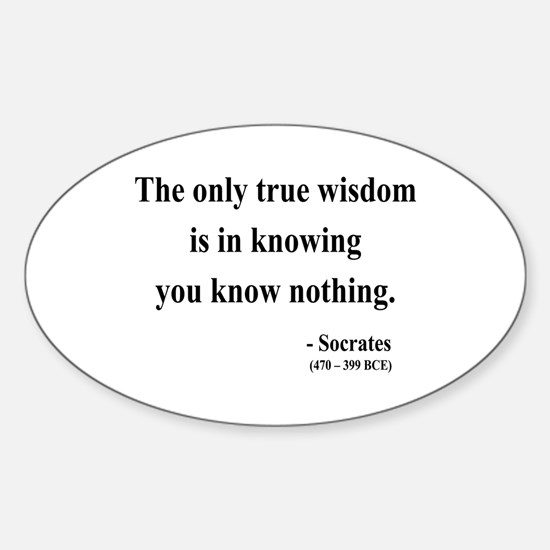 Socrates 3 Oval Decal