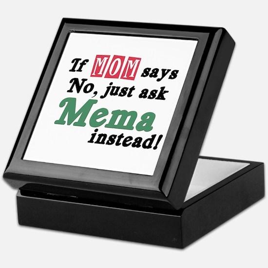 Just Ask Mema Keepsake Box