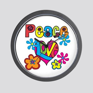 Peace and Love Wall Clock