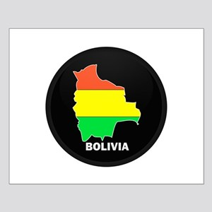 Flag Map of Bolivia Small Poster