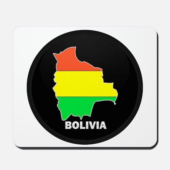 Flag Map of Bolivia Mousepad