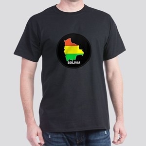 Flag Map of Bolivia Dark T-Shirt