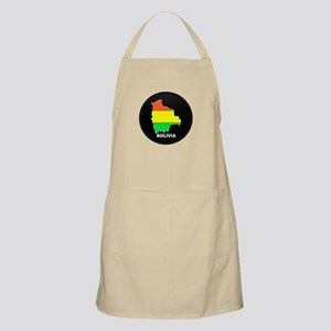 Flag Map of Bolivia BBQ Apron