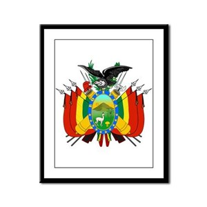 Bolivia Coat of Arms Framed Panel Print