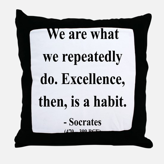 Socrates 6 Throw Pillow