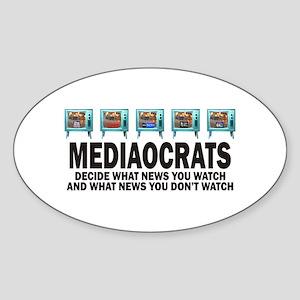 Mediacrats Oval Sticker