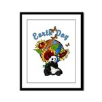 Earth Day Planet Framed Panel Print