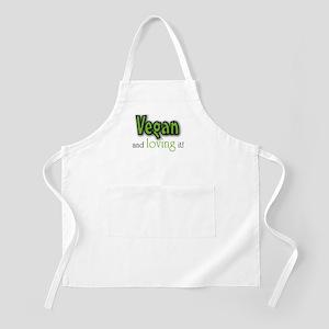 Vegan and loving it BBQ Apron