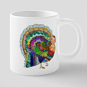 Patchwork Thanksgiving Turkey Mugs