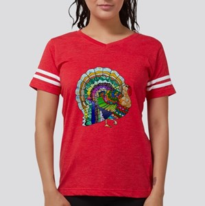 Patchwork Thanksgiving Turkey T-Shirt