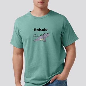 Exhale Yoga Hippo Cute Hippos Funny Hippop T-Shirt