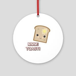 MMM! Toast Ornament (Round)