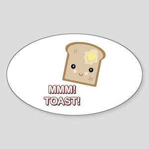 MMM! Toast Oval Sticker