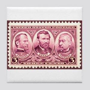Gen's Sherman, US Grant and P Tile Coaster