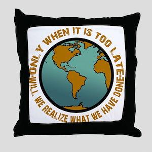 Go Green Throw Pillow